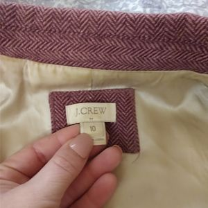 J Crew maroon colored blazer with elbow patches 12